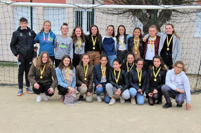Le football féminin brille au collège Jules-Romains