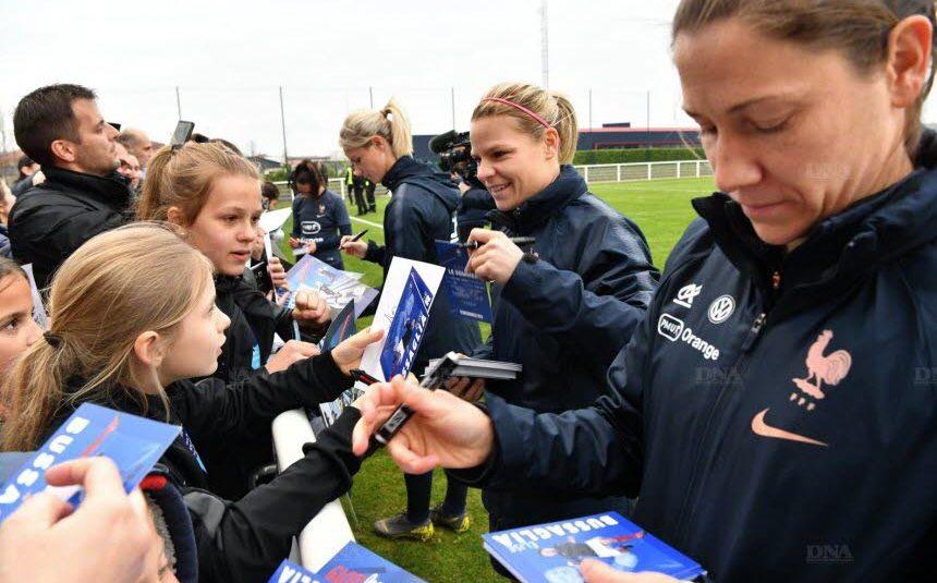 Football L'équipe de France féminine à pied d'oeuvre à Molsheim