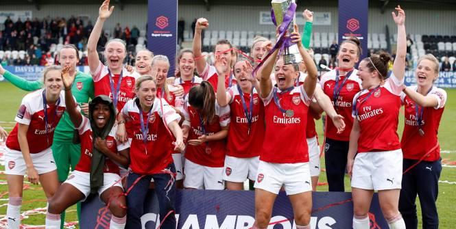 Foot – ANG – Arsenal – Arsenal célèbre son titre de champion d'Angleterre chez les femmes
