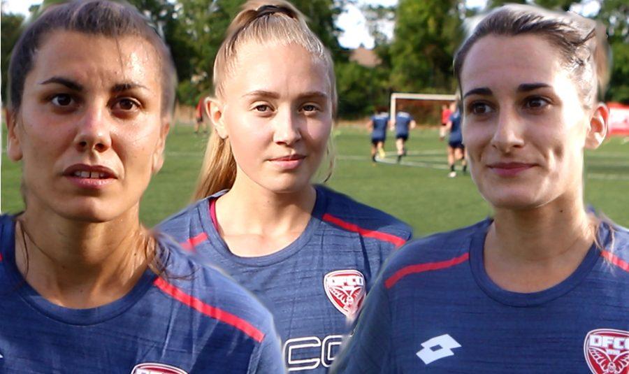 Portrait de trois recrues du DFCO féminin, Pauline Dechissy, Rose Lavaud et Solène Barbance.