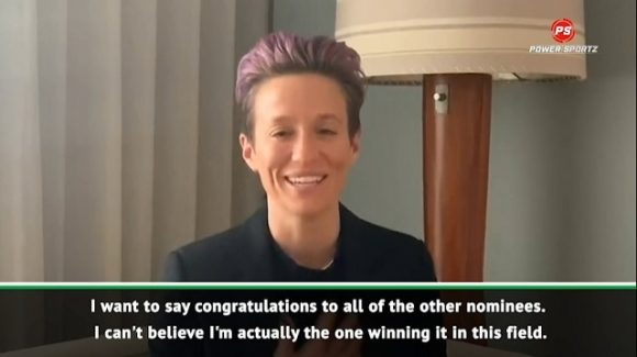 Football: Rapinoe happy to win Ballon d'Or Feminin