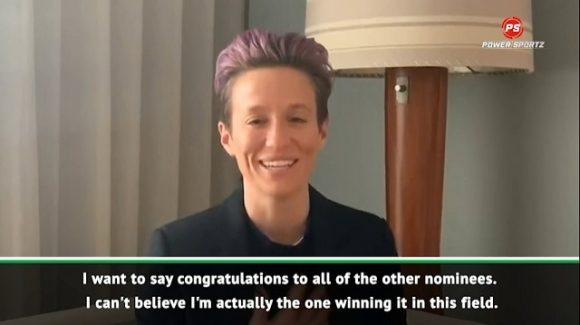Football: Rapinoe happy to win Ballon d'Or Feminin