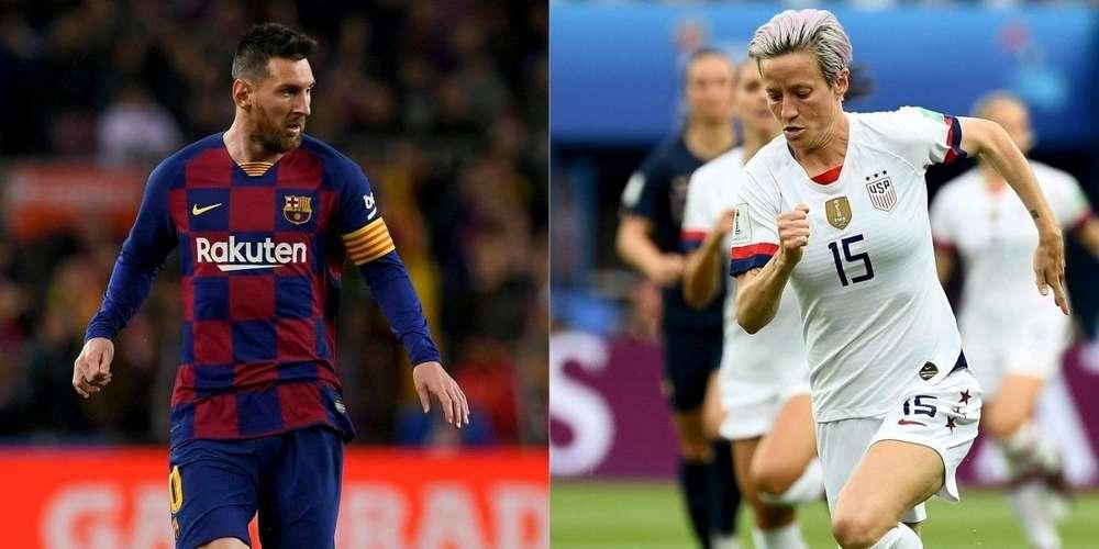 Ballons d'Or : Messi et Rapinoe, pas de surprises mais des consécrations